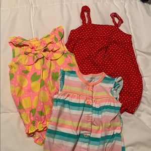 Baby girl romper bundle 3 month
